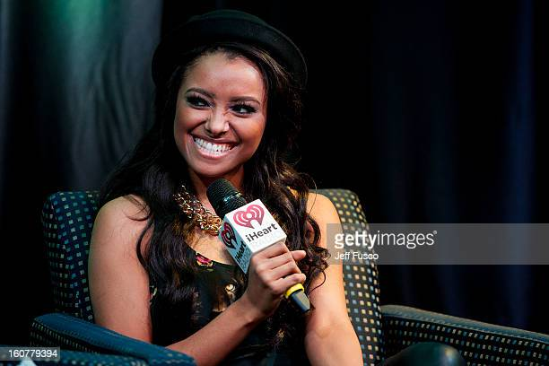 Kat Graham is interviewed at the Q102 iHeart Performance Theater on February 5 2013 in Bala Cynwyd Pennsylvania