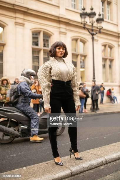 Kat Graham is seen attending JEAN PAUL GAULTIER during Paris Haute Couture Fashion Week wearing JEAN PAUL GAULTIER on January 23 2019 in Paris France