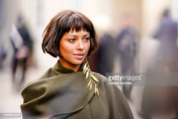 Kat Graham is seen outside Jacquemus during Paris Fashion Week Womenswear Spring/Summer 2019 on September 24 2018 in Paris France