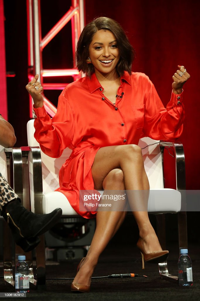 Kat Graham of the television show 'Rise of the Teenage Mutant Ninja Turtle' speaks during the Viacom segment of the Summer 2018 Television Critics Association Press Tour at the Beverly Hilton Hotel on July 27, 2018 in Beverly Hills, California.