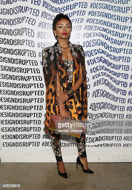 Kat Graham poses for a photo backstage at The Blonds fashion show during MADE Fashion Week Spring 2015 at Milk Studios on September 10 2014 in New...