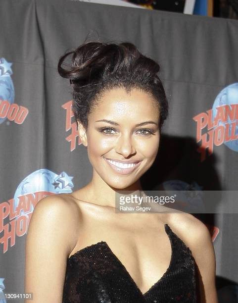 Kat Graham visits Planet Hollywood on January 20, 2010 in New York City.