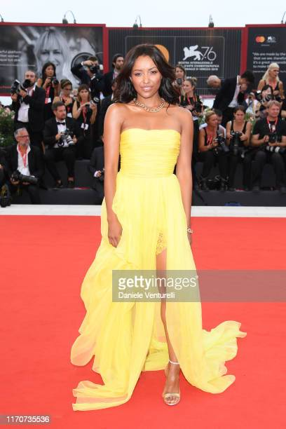Kat Graham walks the red carpet ahead of the Opening Ceremony and the La Vérité screening during the 76th Venice Film Festival at Sala Grande on...