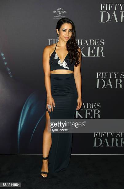 Kat Hoyos arrives ahead of the Fifty Shades Darker launch screening at Hoyts Entertainment Quarter on February 8 2017 in Sydney Australia