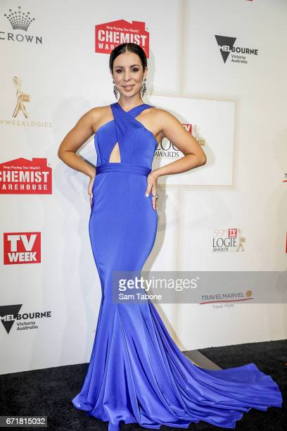 Kat Hoyos arrives at the 59th Annual Logie Awards at Crown Palladium on April 23 2017 in Melbourne Australia