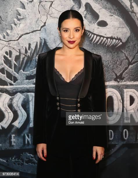 Kat Hoyos attends the Australian premiere of Jurassic World Fallen Kingdom at Event Cinemas George Street on June 13 2018 in Sydney Australia