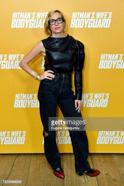 """Kat Irlin attends the """"Hitman's Wife's Bodyguard"""" special screening at Crosby Street Hotel on June 14, 2021 in New York City."""
