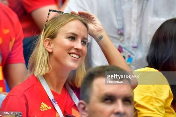 Kat Kerkhofs girlfriend of Dries Mertens forward of Belgium pictured during the FIFA 2018 World Cup Russia Playoff for third place match between...
