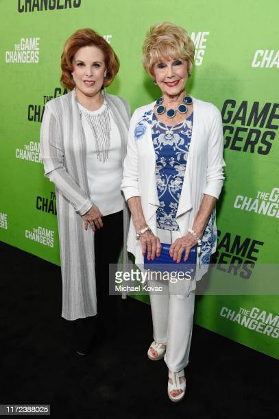 Kat Kramer and Karen Sharpe attend the Los Angeles Premiere of The Game Changers Documentary at ArcLight Hollywood on September 04 2019 in Hollywood...