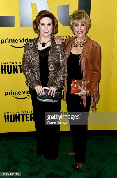 Kat Kramer and Karen Sharpe attend the premiere of Amazon Prime Video's Hunters at DGA Theater on February 19 2020 in Los Angeles California