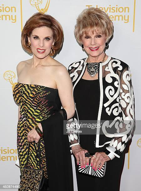 Kat Kramer and Karen Sharpe attend the Television Academy's Performers Peer Group Celebrates the 66th Emmy Awards at the Montage Beverly Hills Hotel...