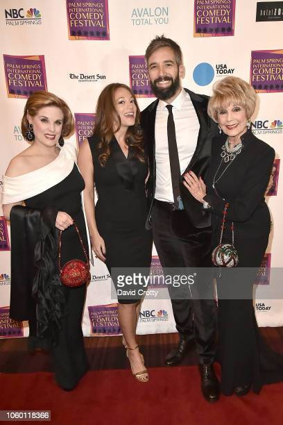 Kat Kramer and Karen Sharpe Kramer attend The Inaugural Palm Springs International Comedy Festival Dinner Gala at Hotel Zoso on November 10 2018 in...