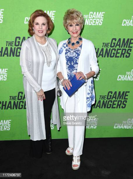 Kat Kramer and Karen SharpeKramer arrives at the LA Premiere Of The Game Changers at ArcLight Hollywood on September 04 2019 in Hollywood California