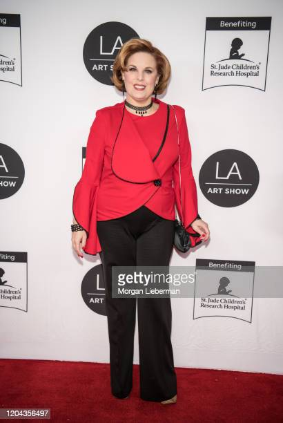 Kat Kramer at the 2020 LA Art Show Opening Night at Los Angeles Convention Center on February 05 2020 in Los Angeles California