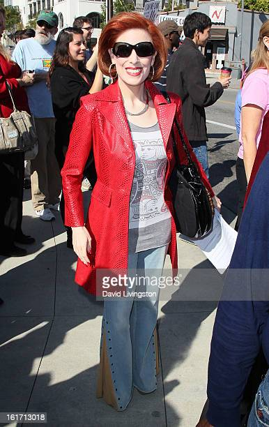 Kat Kramer attends the kickoff for One Billion Rising in West Hollywood on February 14 2013 in West Hollywood California