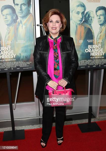 """Kat Kramer attends the LA special screening of Sony's """"The Burnt Orange Heresy"""" at Linwood Dunn Theater on March 02, 2020 in Los Angeles, California."""