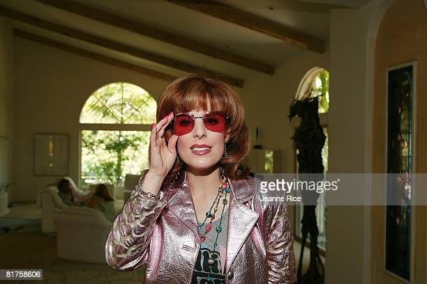 Kat Kramer attends the Trigg Ison Fine art exhibit for the work of Maxine Kim StussyFrankel at her home June 28 2008 in Los Angeles California