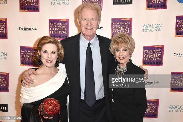 Kat Kramer Ed Begley Jr and Karen Sharpe Kramer attend The Inaugural Palm Springs International Comedy Festival Dinner Gala at Hotel Zoso on November...