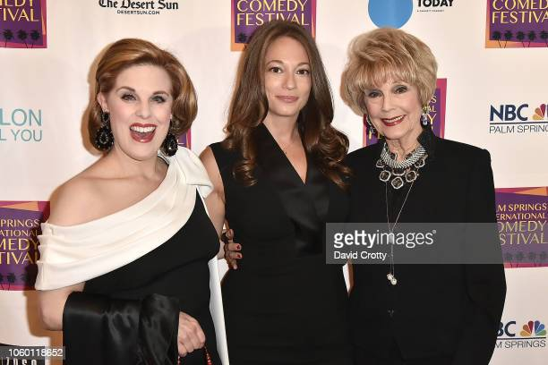 Kat Kramer Erin Simms and Karen Sharpe Kramer attend The Inaugural Palm Springs International Comedy Festival Dinner Gala at Hotel Zoso on November...