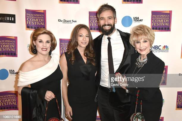Kat Kramer Erin Simms Bill Holderman and Karen Sharpe Kramer attend The Inaugural Palm Springs International Comedy Festival Dinner Gala at Hotel...
