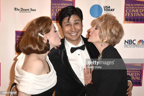 Kat Kramer Paul Cruz and Karen Sharpe Kramer attend The Inaugural Palm Springs International Comedy Festival Dinner Gala at Hotel Zoso on November 10...