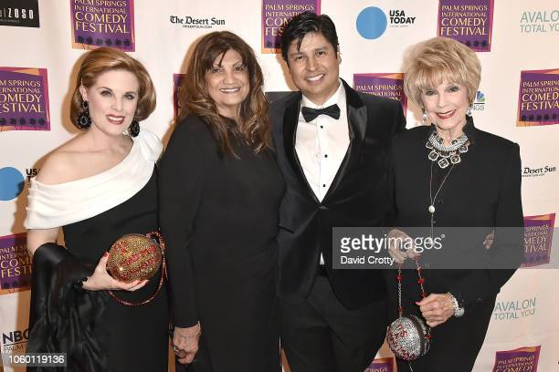 Kat Kramer Shirley Wilburn Paul Cruz and Karen Sharpe Kramer attend The Inaugural Palm Springs International Comedy Festival Dinner Gala at Hotel...