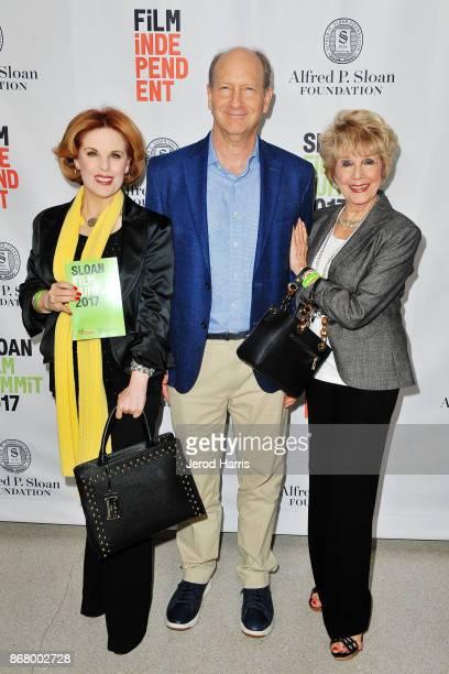 Kat Kramer Vice President of the Alfred P Sloan Foundation Doron Weber and Karen Sharpe attend Sloan Film Summit 2017 Day 3 on October 29 2017 in Los...