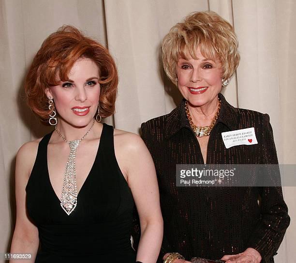 Kat Kramer with her mother producer/actress Karen Sharpe Kramer attend An Evening with Jane Fonda benefiting The Women's Reproductive Rights...
