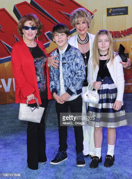 Kat Krammer Daniel Hoffman Karen Sharp and Olive Hoffman arrive for the World Premiere Of Sony Pictures Animation And Marvel's 'SpiderMan Into The...