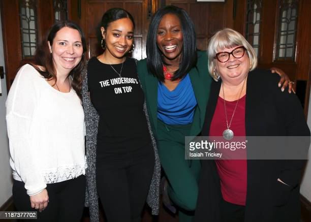 Kat McNichol, Alicia K. Harris, Lanette Ware-Bushfield and Martha Martin attend Listen And Learn at Kingston Road United Church on December 8, 2019...
