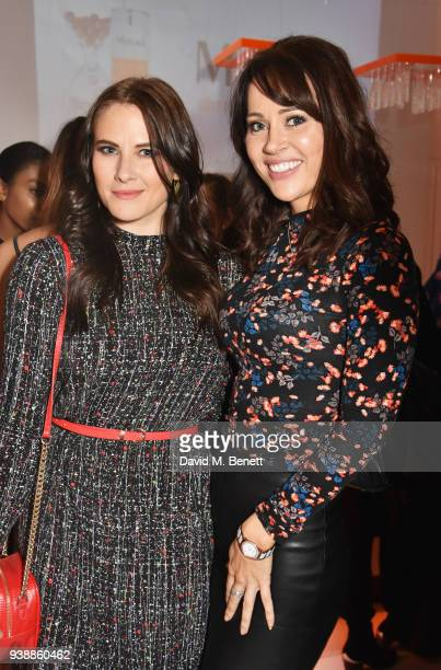 Kat Shoob and Hayley Sparkes attend the launch of Dr Murad's Brightest Innovation at Icetank on March 27 2018 in London England