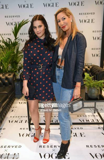 Kat Shoob and Laura Pradelska attend the British Vogue Reserved Oxford Street instore event on August 23 2018 in London England
