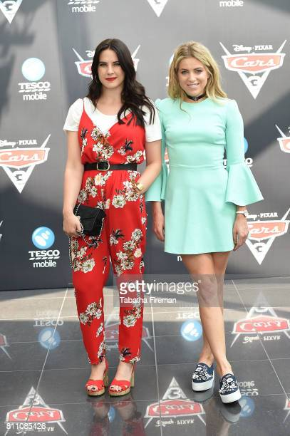 Kat Shoob and Olivia Cox attends the charity gala screening of 'Cars 3' at Vue Westfield on July 9 2017 in London England
