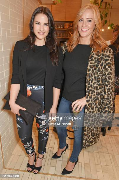 Kat Shoob and SarahJane Mee attend the launch of the new Lady Garden limited edition tshirts designed by Naomi Campbell Cara Delevingne Poppy...