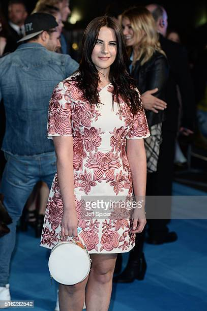 Kat Shoob arrives for the European premiere of 'Eddie The Eagle' at Odeon Leicester Square on March 17 2016 in London England