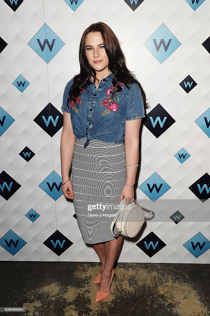 Kat Shoob attends a celebration of the new TV channel 'W,' launching on Monday 15th February, at Union Street Cafe on February 11, 2016 in London, England.