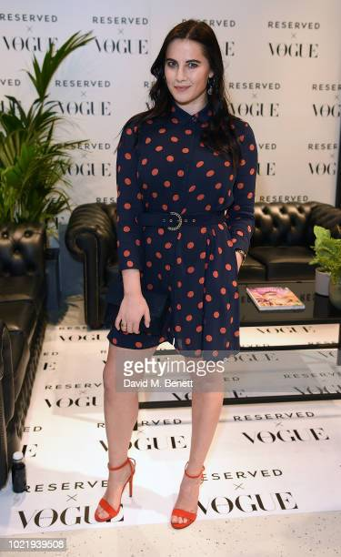 Kat Shoob attends the British Vogue Reserved Oxford Street instore event on August 23 2018 in London England