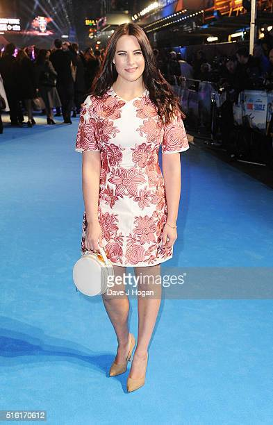 Kat Shoob attends the European premiere of 'Eddie The Eagle' at Odeon Leicester Square on March 17 2016 in London England