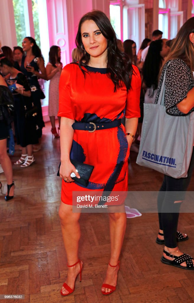 Kat Shoob attends the launch of the new ghd x Lulu Guinness collection, which raises money for Breast Cancer Now, at One Belgravia on July 11, 2018 in London, England.