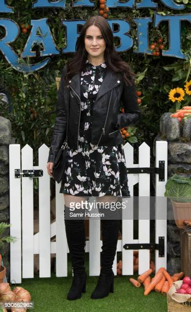 Kat Shoob attends the UK Gala Screening of 'Peter Rabbit' at Vue West End on March 11 2018 in London England