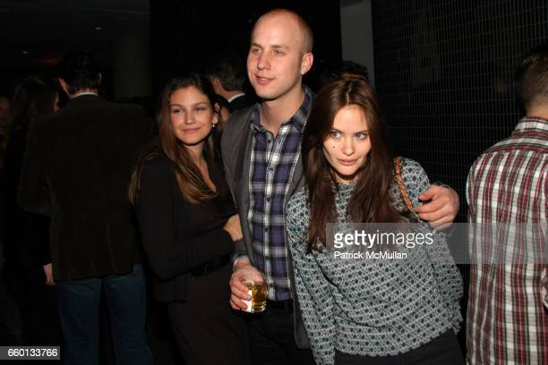 Kat Van Leer Patrick Emanuel and Kristina Ratliff attend THE CINEMA SOCIETY NEXTBOOK GREY GOOSE host the after party for DEFIANCE at Shang at the...