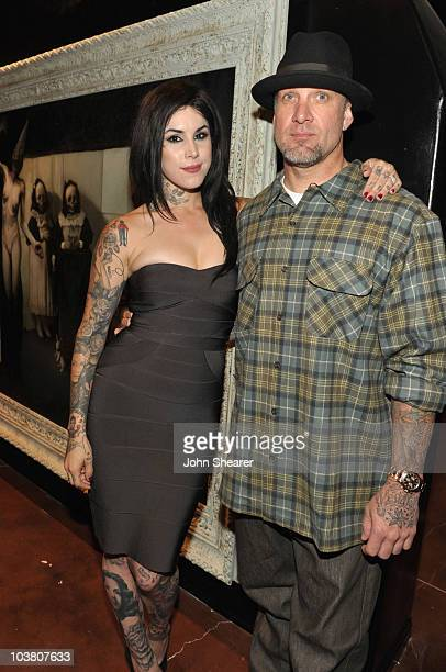 """Kat Von D and Jesse James attend the opening of Kat Von D's """"Wonderland"""" gallery on September 2, 2010 in West Hollywood, California."""