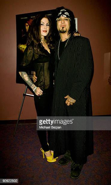 Kat Von D and Nikki Sixx attend 'The Bleeding' Premiere at Laemmle Sunset 5 Theatre on November 2 2009 in West Hollywood California