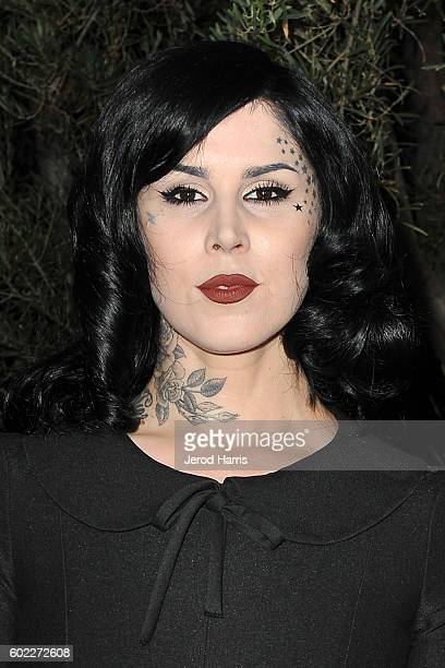 Kat Von D arrives at Mercy For Animals Presents Hidden Heroes Gala 2016 at Vibiana on September 10, 2016 in Los Angeles, California.