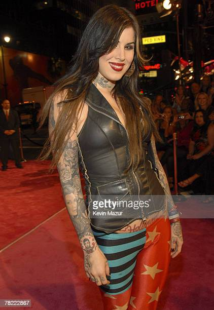 Kat Von D arrives at the 12th Annual Victoria's Secret Fashion Show at the Kodak Theater on November 15 2007 in Los Angeles