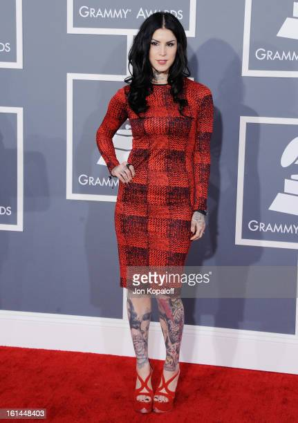 Kat Von D arrives at The 55th Annual GRAMMY Awards at Staples Center on February 10, 2013 in Los Angeles, California.