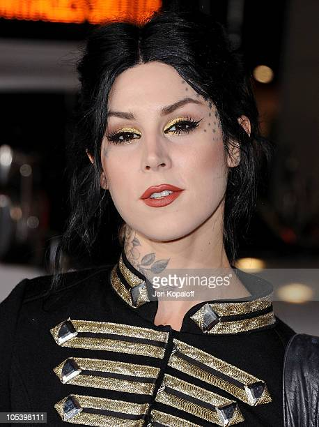 """Kat Von D arrives at the Los Angeles Premiere """"Jackass 3D"""" at Grauman's Chinese Theatre on October 13, 2010 in Hollywood, California."""