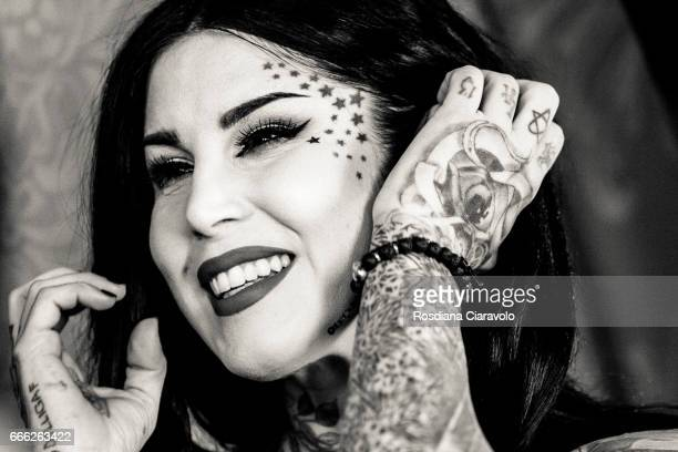 Kat Von D at Sephora Cso Vittorio Emanuele Milan on April 8 2017 in Milan Italy