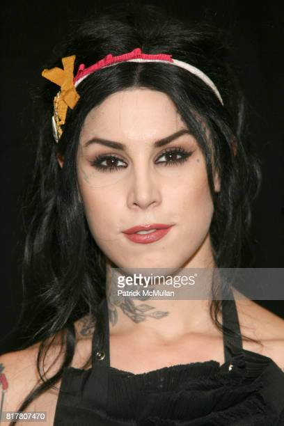 """Kat Von D attends Kat Von D book signing of her book, """"The Tattoo Chronicles"""" at BookEnds on October 27, 2010 in Ridgewood, New Jersey."""