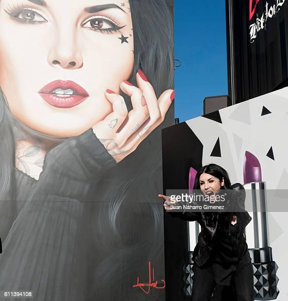 Kat Von D attends Sephora Urban Art Installation at Sphora on September 29 2016 in Madrid Spain